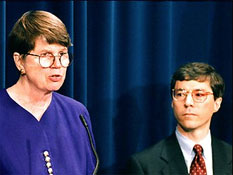 Janet Reno (L) and David Odgen