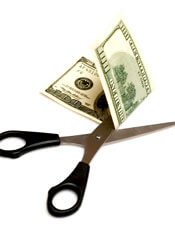 Scissors beats money.