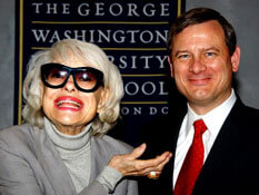 Carol Channing (left), John Roberts