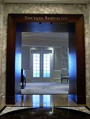 Troutman Sanders has a nice door.