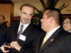 Carlos M. Sada of the Mexican Embassy (left) with Mauricio R. Celis