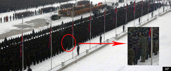 Giant Man in North Korea Attends Funeral