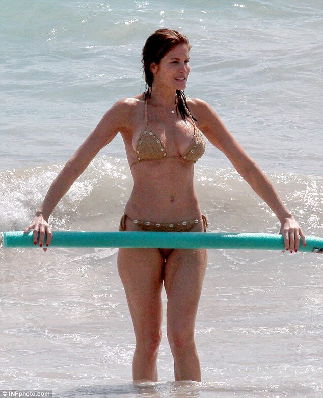 Stephanie Seymour Shows Off Body in St. Barts