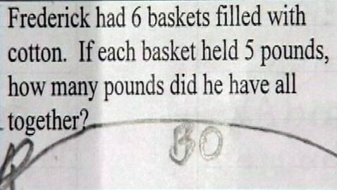 Questions about Slavery Appear in Math Questions