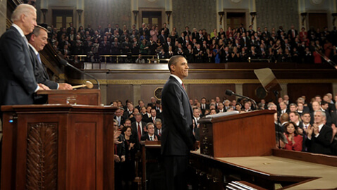 Obama Outlines Economic Programs in State of Union Speech