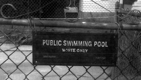 'White Only' Pool Sign Ruled Discriminatory