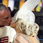 Bloomberg and Gaga Share Midnight Kiss