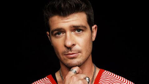 R&B Singer Robin Thicke is arrested for Marijuana
