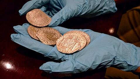 Battle Over Treasure Ship Ends: 17 tons of Bullion worth 370 Million Euros Leaves for Spain