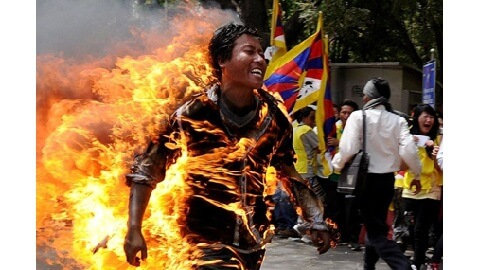Tibetan Protester Burns Himself Alive