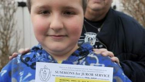 Massachusetts Boy, 9, Receives Jury Duty Summons