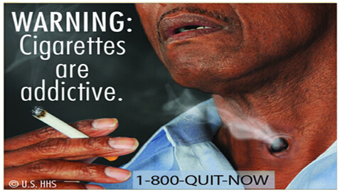 Judge Holds Tobacco Health Warnings as Unconstitutional