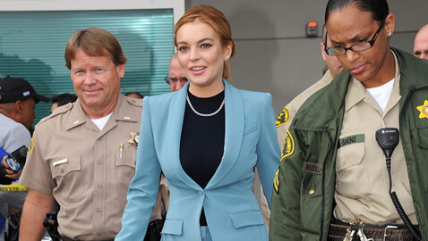 Lindsay Lohan Narrowly Avoids Major Accident