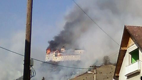 Fire in Slovakia Castle Set by Boys Trying to Smoke