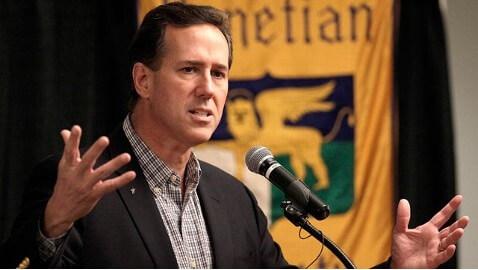 Santorum's Comments over Malia Scrutinized