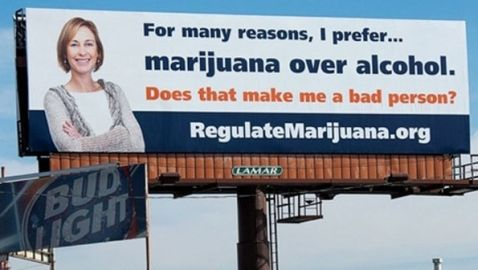 Billboard Supporting Colorado's Amendment 64 Revealed