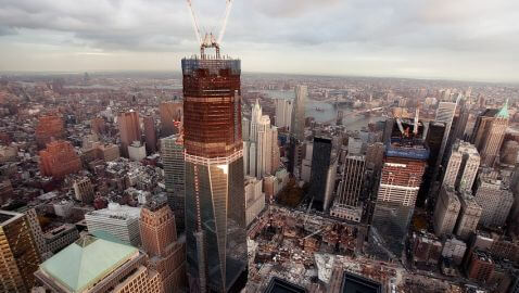 One World Trade Center to Reach 1,250 Feet Today