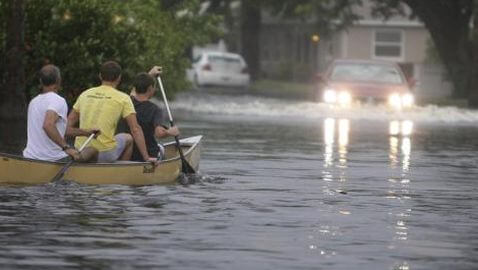 Tropical Storm Debby Bombarding Florida