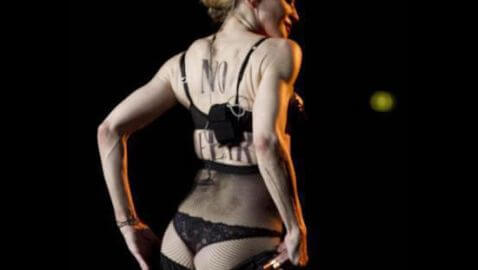 Madonna Reveals Butt at Her Rome Concert