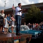 Mitt Romney Encounters Protestors at Ohio Speech