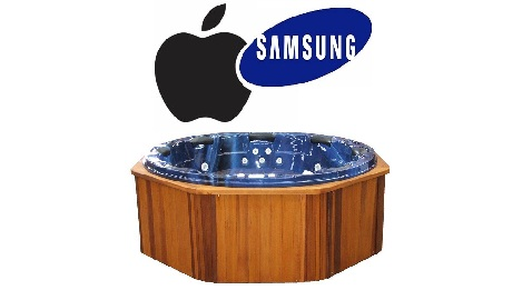 apple samsung hot tubbing