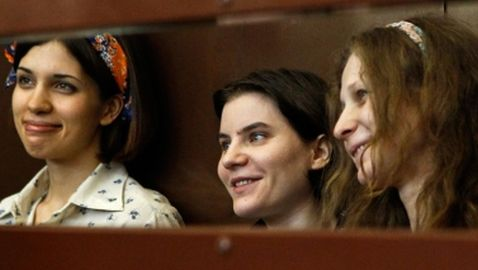 Members of Pussy Riot Sentenced to Two Years in Jail