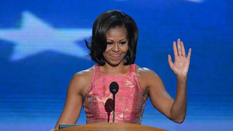 Michelle Obama Delivers Speech at Democratic National Convention
