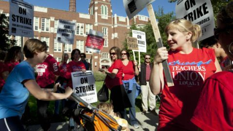 Teachers in Chicago On Strike