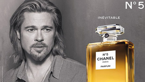 Brad Pitt First Male Face of Chanel 5