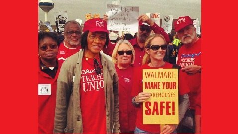 Wal-Mart Workers Peacefully Protest For Safe Work Environment, Riot Police Called In