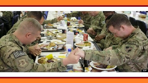 U.S. Troops Celebrate an Afghan Thanksgiving