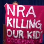 Protestor Gets Message Heard During NRA Press Conference