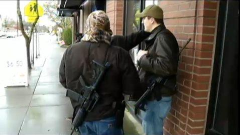 Portland Men Walk Around Town Carrying Assault Rifles