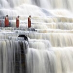 pongour-falls-monks-meditating