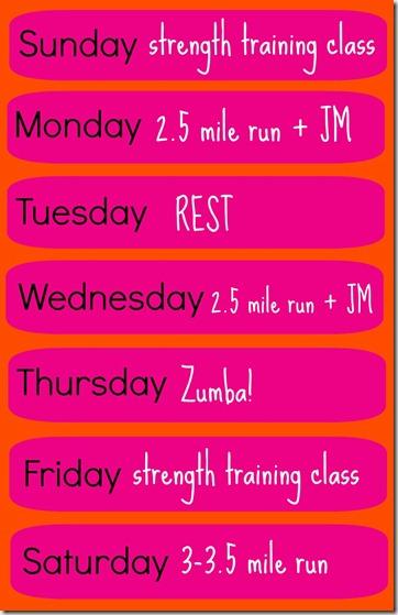 Weekly Workouts & Eggy Polenta