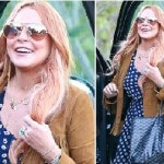 Lindsay Lohan Leaves Rehab and Greets the World with a Smile