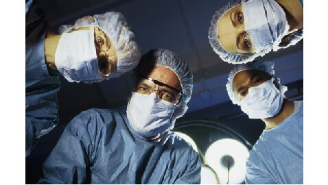 surgeons looking in