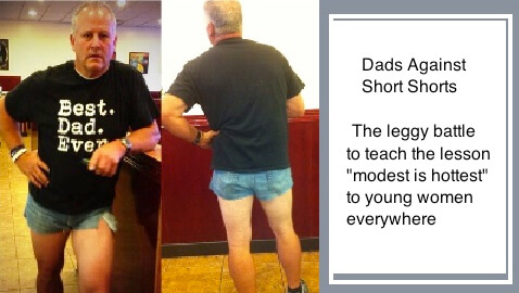 Utah Dad in Short Shorts Teaches Daughter Modesty