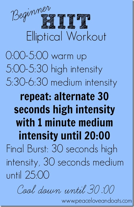 Beginner HIIT Elliptical Workout