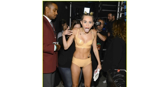 Topless Miley Cyrus…..There She Goes Again