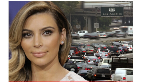 Kim Kardashian Causes Mayhem on L.A. Freeway