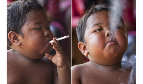 Baby Quits Smoking After 40 Cigarette-a-Day Habit