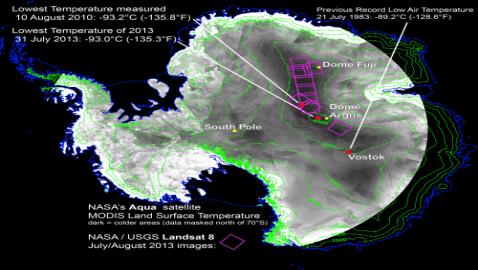 Antarctica Hits Record Low of -135.8 F (-94.7 C)