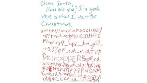 Dear Santa Letter Uses Amazon Code