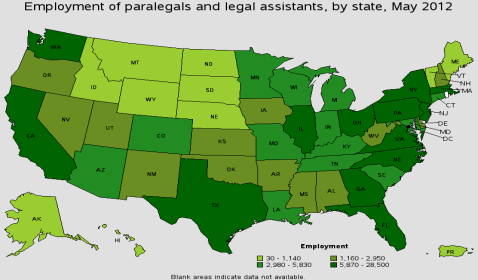 Legal Occupation Salary Statistics