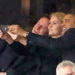 Obama Takes Selfie at Funeral