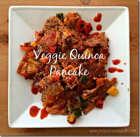 Veggie Quinoa Pancake - Peace Love & Oats