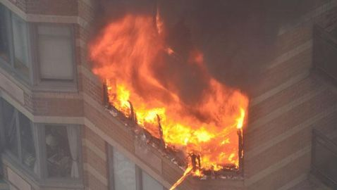 Manhattan High Rise Fire Leaves One Dead and One Critically Injured
