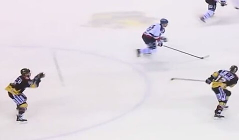 World's Most Epic Hockey Stick Pass