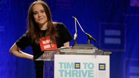 "Ellen Page Comes Out During Speech at ""Time to Thrive"" Conference"